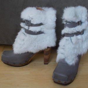 Faith Conviction Boot 100% Leather Grey Sz 8